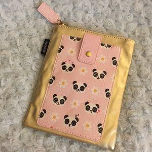 Cute Panda Zippered Case